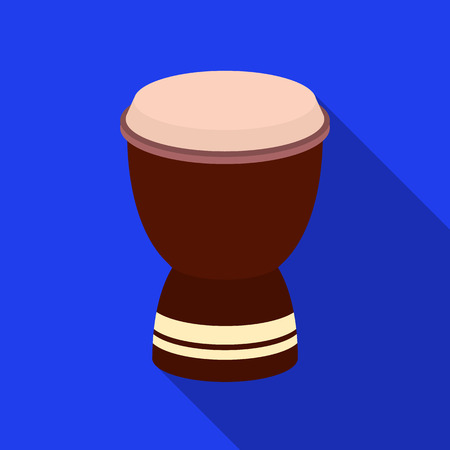 djembe: Goblet drum icon in flate style isolated on white background. Turkey symbol stock vector illustration.
