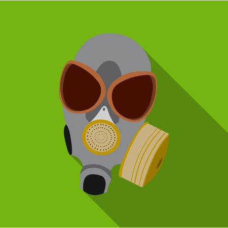Gas masks icon flate. Single weapon icon from the big ammunition, arms set.