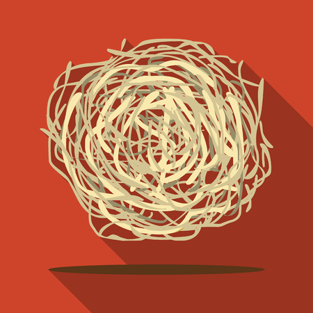 mess: Tumbleweed icon flate. Singe western icon from the wild west flate.