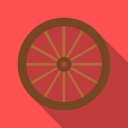 cartwheel: Cart-wheel icon flate. Singe western icon from the wild west flate.
