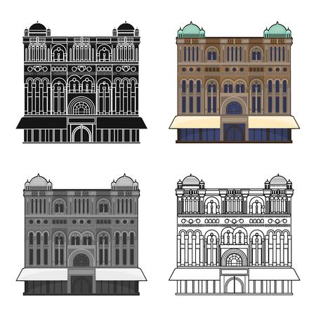 Queen Victoria Building icon in cartoon design isolated on white background. Australia symbol stock vector illustration.