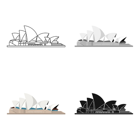 Sydney Opera House icon in cartoon design isolated on white background. Countries symbol vector illustration.