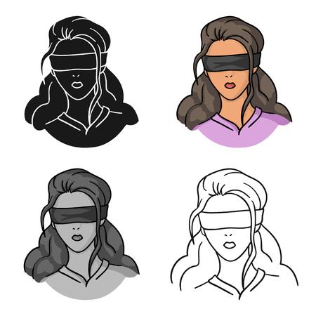 Icône d'otage en style cartoon isolé sur fond blanc. Illustration vectorielle de crime symbole.