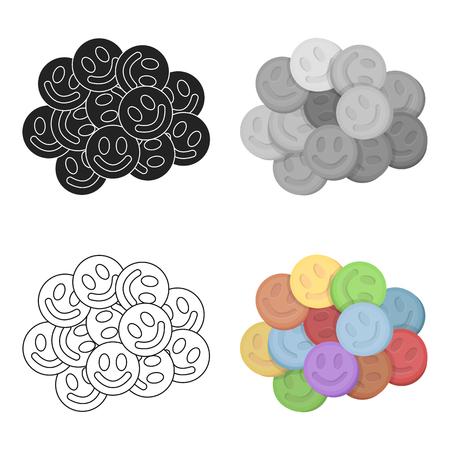 éxtasis: icono de éxtasis en estilo de dibujos animados aislado en el fondo blanco. Drogas ilustración vectorial símbolo.