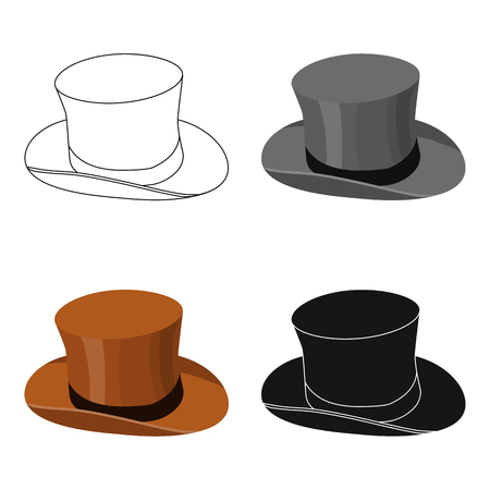 Top hat icon in cartoon style isolated on white background. England country symbol vector illustration.
