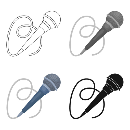 happy birtday: Microphone icon in cartoon style isolated on white background. Event service symbol vector illustration. Illustration