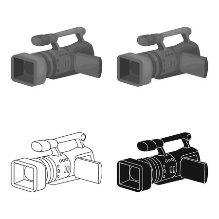 Camcorder icon in cartoon style isolated on white background. Event service symbol vector illustration.