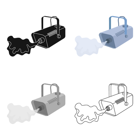 launcher: Fog machine icon in cartoon style isolated on white background. Event service symbol vector illustration.