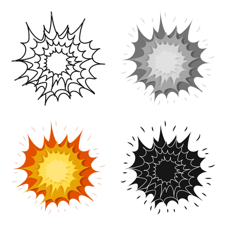 dinamita: Explosion icon in cartoon design isolated on white background. Explosions symbol stock vector illustration.