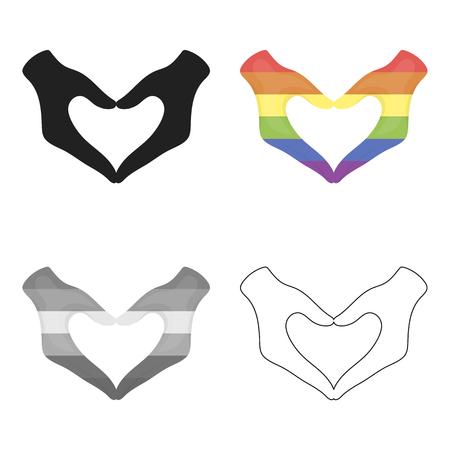 Hands icon cartoon. Single gay icon from the big minority, homosexual cartoon. Illustration