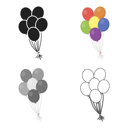 Balloon icon cartoon. Single gay icon from the big minority, homosexual cartoon.