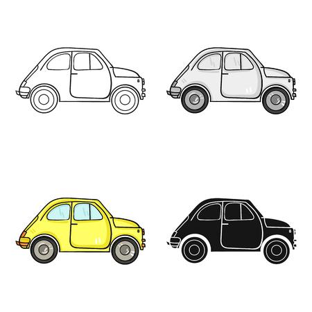 Italian retro car from Italy icon in cartoon style isolated. vector illustration.