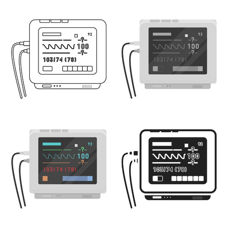 Ecg machine icon cartoon. Single medicine icon from the big medical, healthcare cartoon. Illustration