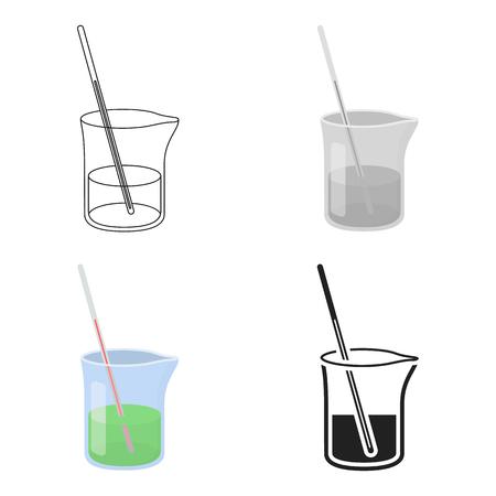 Mixture icon cartoon. Single medicine icon from the big medical, healthcare cartoon. Illustration