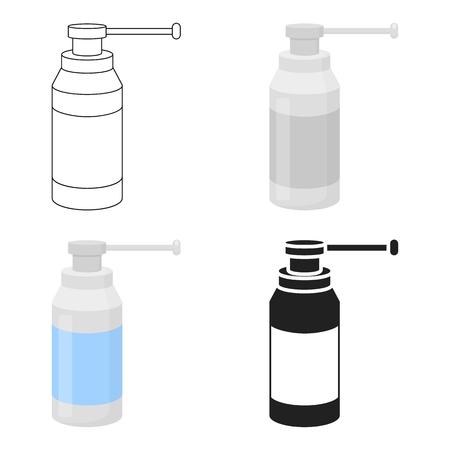 Throat Spray Symbol Karikatur. Einzel Medizin-Symbol aus der großen medizinischen, Healthcare-Cartoon.