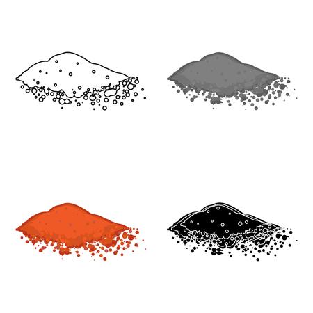 Paprika pictogram in cartoon stijl geïsoleerd op een witte achtergrond. Kruid een kruiden symbool stock vector illustratie. Stock Illustratie