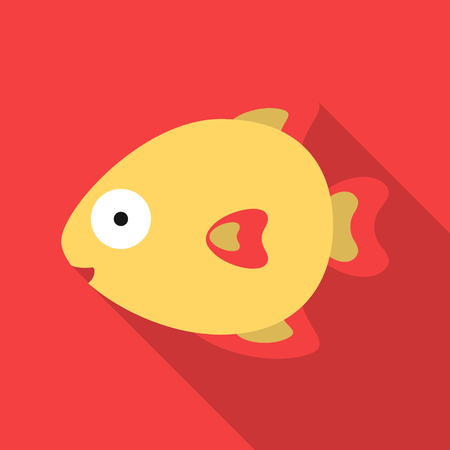 Fish flat icon. Illustration for web and mobile design.