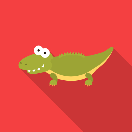 Crocodile flat icon. Illustration for web and mobile design.