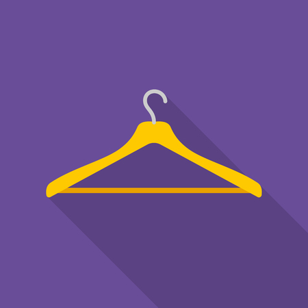 seamstress: Hanger icon of vector illustration for web and mobile