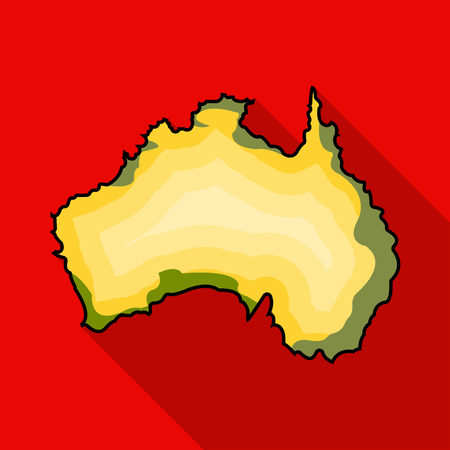 Territory of Australia icon in flat style isolated on white background. Australia symbol stock vector illustration.