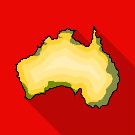 Territory of Australia icon in flat style isolated on white background. Australia symbol stock vector illustration.