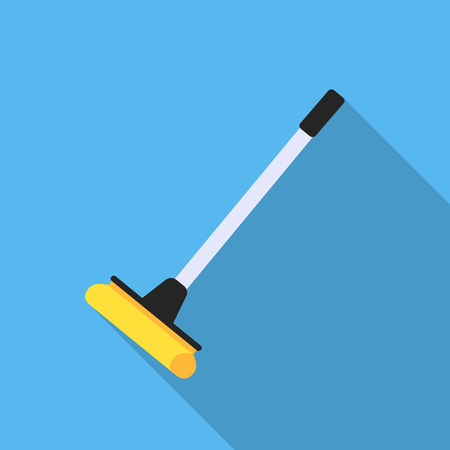 Mop flat icon. Illustration for web and mobile design.