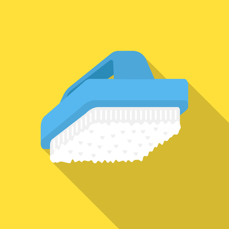 Cleaner brush flat icon. Illustration for web and mobile design. Illustration