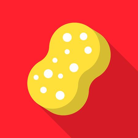 Sponge flat icon. Illustration for web and mobile design.