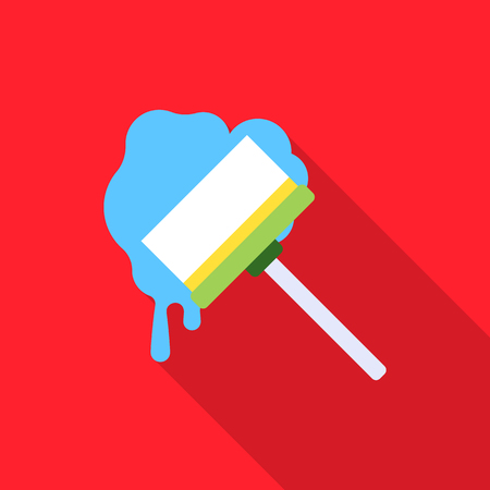 Squeegee flat icon. Illustration for web and mobile design.
