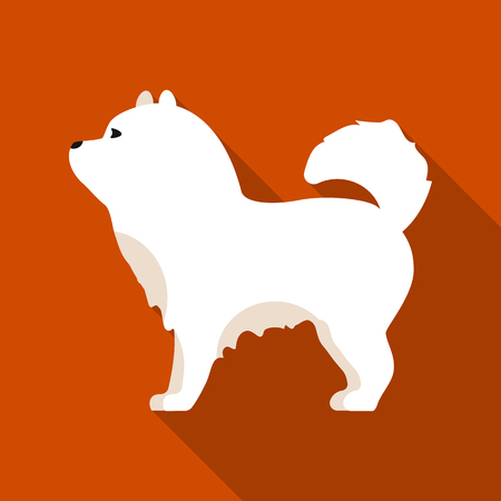 chow: Chow-chow vector icon in flat style for web