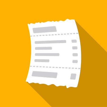 オレンジ色の背景でフラット スタイルで受信確認] アイコン。E-コマース シンボル株式ベクトル イラスト。