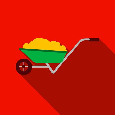 Wheelbarrow icon of vector illustration for web and mobile