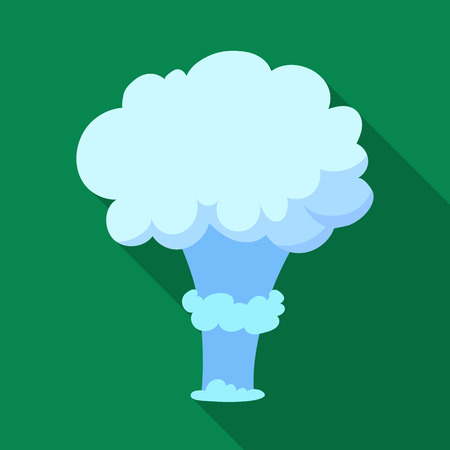 nuke: Nuclear explosion icon in flat style isolated on white background. Explosions symbol stock vector illustration.