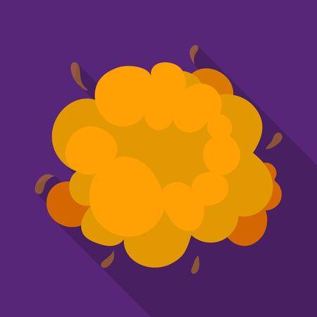 Explosie icoon in vlakke stijl op een witte achtergrond. Explosies symbool stock vector illustratie.