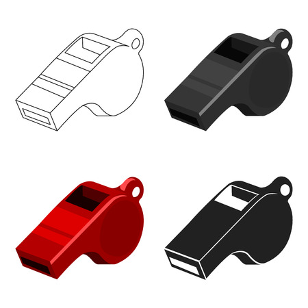 Whistle icon cartoon. Single sport icon from the big fitness, healthy, workout cartoon. Illustration
