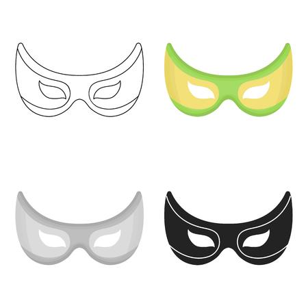 Eye mask icon in cartoon style isolated on white background. Superheros mask symbol stock vector illustration. Illustration