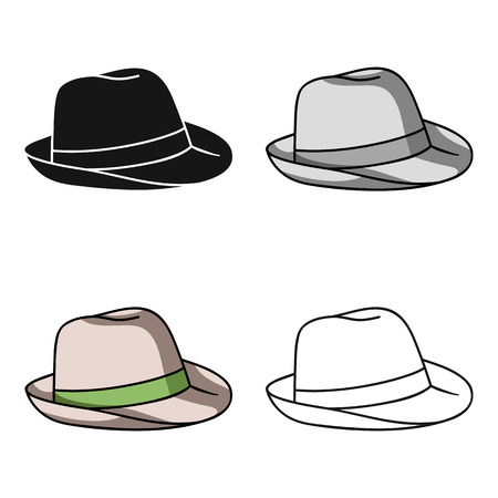 Panama hat icon in cartoon style isolated on white background. Surfing symbol stock vector illustration.