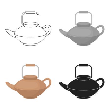 Tetsubin icon in cartoon style isolated on white background. Sushi symbol stock vector illustration. Illustration