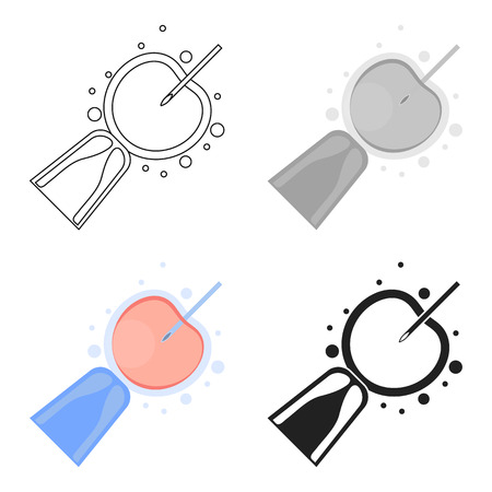 Artificial insemination icon in cartoon style isolated on white background. Pregnancy symbol stock vector illustration.