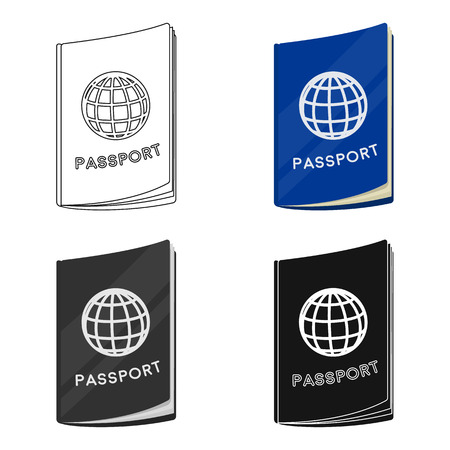 documentation: Passport icon in cartoon style isolated on white background. Rest and travel symbol stock vector illustration.