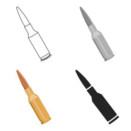 Bullets icon cartoon. Single weapon icon from the big ammunition, arms set.