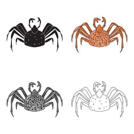 King crab icon in cartoon style isolated on white background. Sea animals symbol stock vector illustration.