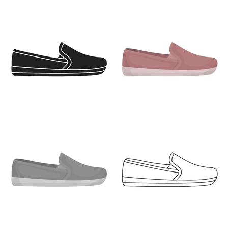 Moccasin icon in cartoon style isolated on white background. Shoes symbol stock vector illustration.