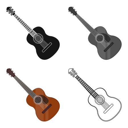 Ilustración De Vector De Guitarra Acústica Mexicana Aislada Sobre ...