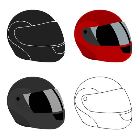 Motorcycle helmet icon cartoon. Single sport icon from the big fitness, healthy, workout cartoon. Illustration