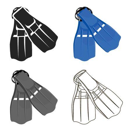 Flippers icon cartoon. Single sport icon from the big fitness, healthy, workout cartoon.
