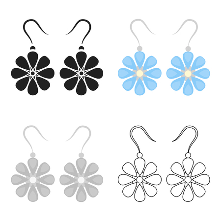 Earrings icon of vector illustration for web and mobile