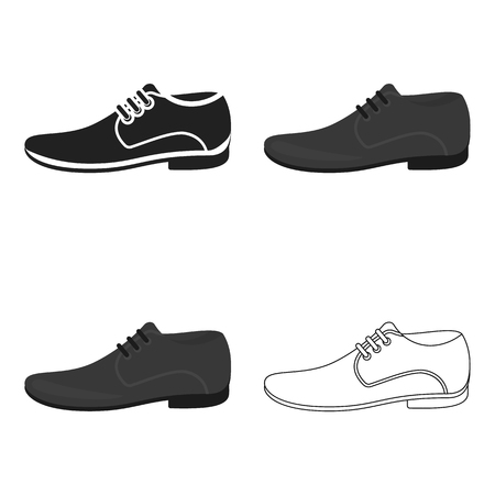 Men Shoes icon of vector illustration for web and mobile Illustration