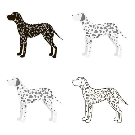 dalmatian: Dalmatian vector icon in cartoon style for web