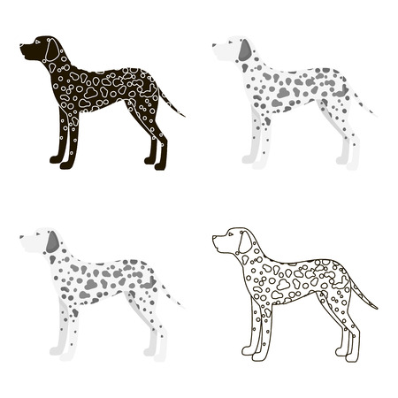 Dalmatian vector icon in cartoon style for web